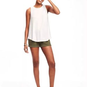 NWOT Old Navy White Luxe High Neck Tank - Size XXL